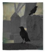 Gothic Winter Blackbirds Fleece Blanket