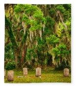 Gould's Cemetery Fleece Blanket