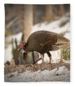 Gould's Wild Turkey Vix Fleece Blanket