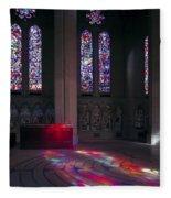 Grace Cathedral Walking Labyrinth - San Francisco Fleece Blanket