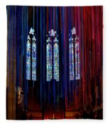 Grace Cathedral With Ribbons Fleece Blanket