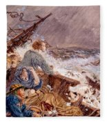 Grace Darling And Her Father Saving Fleece Blanket