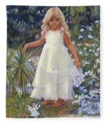 Grace In The Fairy Garden Fleece Blanket