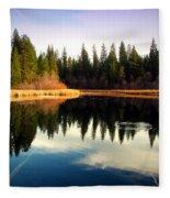 Grace Lake Northern California Fleece Blanket