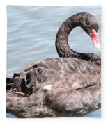Graceful Black Swan Fleece Blanket