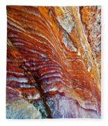 Graceful Grooves Rock In Petra-jordan Fleece Blanket