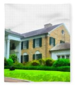 Graceland Mansion Fleece Blanket