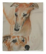 Graciously Greyhound Fleece Blanket