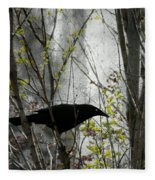 Grackle Bush Fleece Blanket
