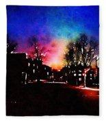 Graduate Housing Princeton University Nightscape Fleece Blanket