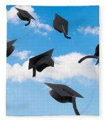 Graduation Mortar Boards Fleece Blanket