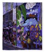 Graffiti Alley San Francisco Fleece Blanket
