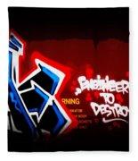 Graffiti - Box Car Art  7097-008 Fleece Blanket