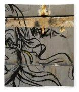 Graffiti Girl Fleece Blanket