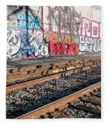 Graffiti On The Wall, Tenth Street Fleece Blanket