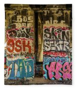 Graffiti On The Walls, Tenth Street Fleece Blanket