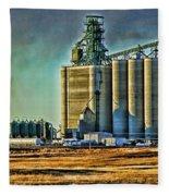 Grain Elevators Fleece Blanket