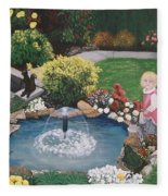 Gramma Nanna S Pond Fleece Blanket