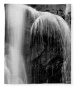 Grampians Waterfall Bw Fleece Blanket
