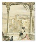 Granada , Plate 9 From Sketches Fleece Blanket