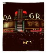 Night Lights Granada Theater Fleece Blanket