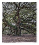 Grand Angel Oak Tree Fleece Blanket