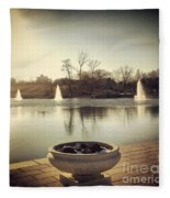 Grand Basin In Forest Park Fleece Blanket