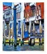 Grand Canal - Venice Fleece Blanket