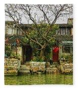 Grand Canal China Fleece Blanket