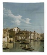 Grand Canal From Palazzo Flangini To Palazzo Bembo Fleece Blanket