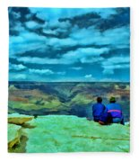 Grand Canyon # 7 - Hopi Point Fleece Blanket