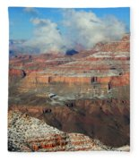 grand Canyon After the Snow Fleece Blanket