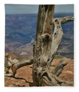Grand Canyon And Dead Tree 2  Fleece Blanket