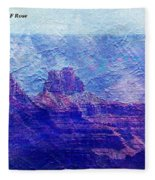 Grand Canyon As A Painting 2 Fleece Blanket