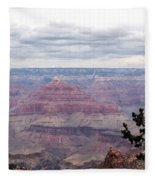 Grand Canyon Awaiting Snowstorm Fleece Blanket