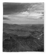 Grand Canyon Black And White Fleece Blanket