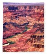 Grand Canyon Colorado Canyon Fleece Blanket