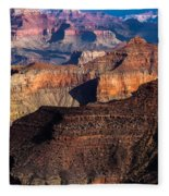 Grand Canyon Colors Fleece Blanket