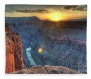 Grand Canyon First Light Fleece Blanket