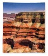 Grand Canyon Mesa Panorama Fleece Blanket