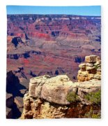 Grand Canyon Of Red By Diana Sainz Fleece Blanket