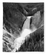 Grand Canyon Of The Yellowstone  Fleece Blanket