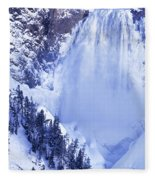 Grand Canyon Of The Yellowstone Yellowstone National Park Wyoming Fleece Blanket