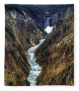 Grand Canyon Of Yellowstone - From Artist Point Fleece Blanket