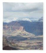 Grand Canyon Shadows And Snow Fleece Blanket