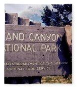 Grand Canyon Signage Fleece Blanket