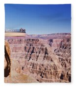Grand Canyon Skywalk, Eagle Point, West Fleece Blanket