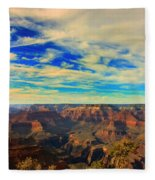 Grand Canyon South Rim Fleece Blanket