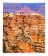 Grand Canyon South Rim Fleece Blanket