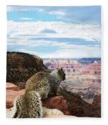 Grand Canyon Squirrel Fleece Blanket